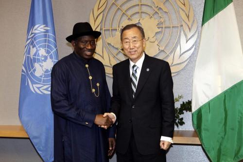 Goodluck Jonathan Ban Ki-moon